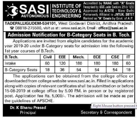 Sasi Institute of Technology & Engineering